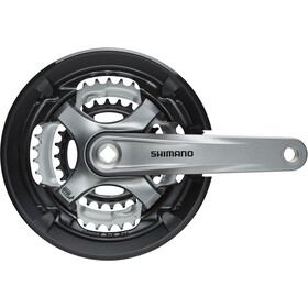 Shimano Tourney FC-TY701 Crankset Vierkant 6/7/8-speed, 48-38-28 tanden, black/grey